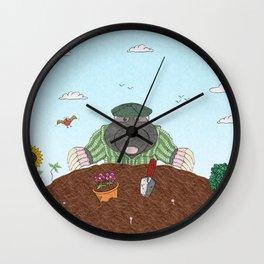 Country Mole Wall Clock