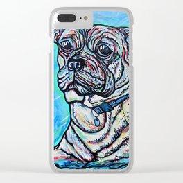 Pug My Love Clear iPhone Case