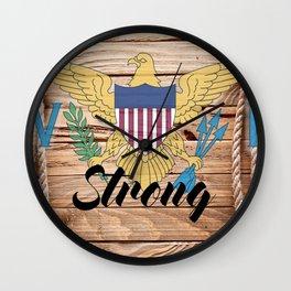 Virgin Islands Strong Wall Clock