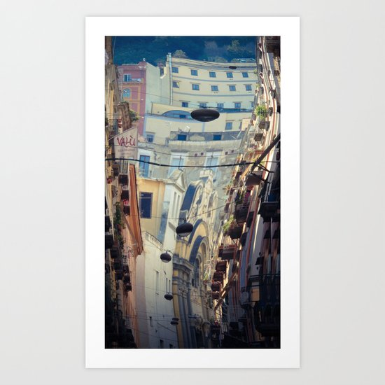 Napoli street Art Print