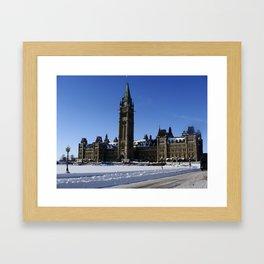 Parliament - Winter Framed Art Print