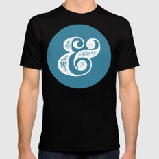 Ampersand Black MEDIUM Mens Fitted Tee