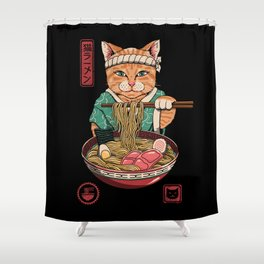 Neko Ramen Shower Curtain