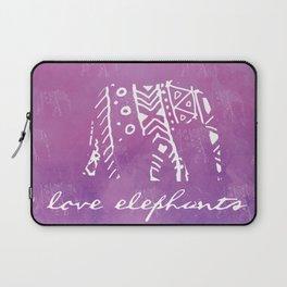 Elephant Love Purple Laptop Sleeve
