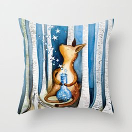 Star Laboratory Experiment by Fawn Throw Pillow