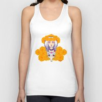 day of the dead Tank Tops featuring Day of the Dead by Andrea Estrada
