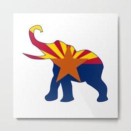 Arizona Republican Elephant Flag Metal Print