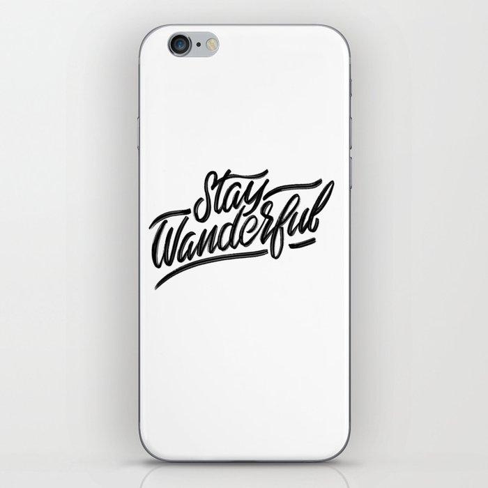 Stay Wanderful iPhone Skin