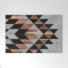 Urban Tribal Pattern No.10 - Aztec - Concrete and Wood Welcome Mat