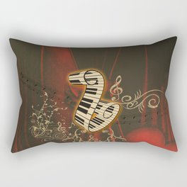 Music, piano with clef and key notes, Rectangular Pillow