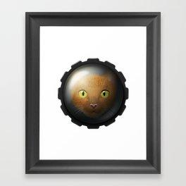 The cat within Framed Art Print