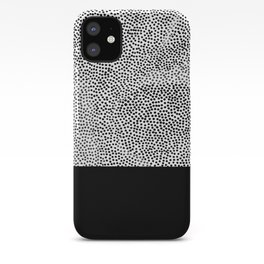 Dots and Black iPhone Case