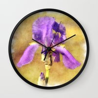 lily Wall Clocks featuring Lily by Susann Mielke