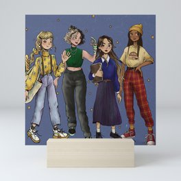 Wizardry school girls Mini Art Print