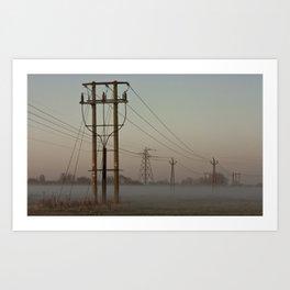 Ground fog day Art Print