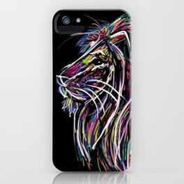 Neon Glow Lion (He)art iPhone Case