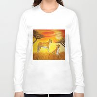 tigers Long Sleeve T-shirts featuring Tigers Sun by ArtSchool