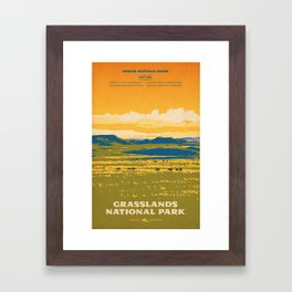 Grasslands National Park Poster Framed Art Print