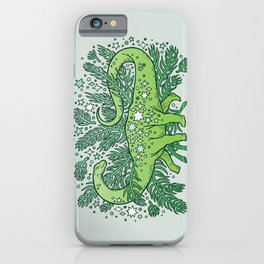 Winter Solstice Sauropod | Evergreens Palette iPhone Case