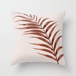 Terracotta Palm Leaf Throw Pillow
