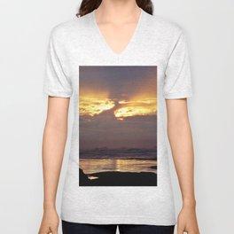 Stormy Sunset Unisex V-Neck