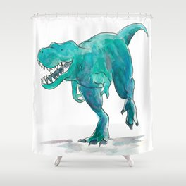 T-Rex Dinosaur Shower Curtain