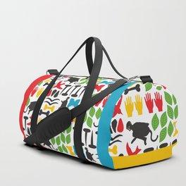 Frida Cutout Pattern Duffle Bag