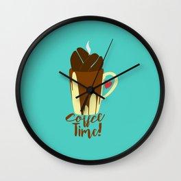 The Coffee Addiction Wall Clock