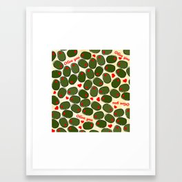 Olive you Framed Art Print