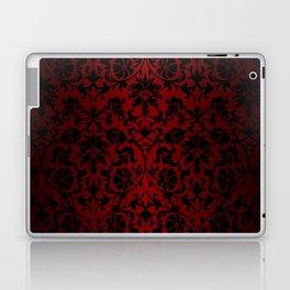 Dark Red and Black Damask Laptop & iPad Skin