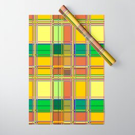 Caribbean Colorful Fabric Madras Tartan Wrapping Paper