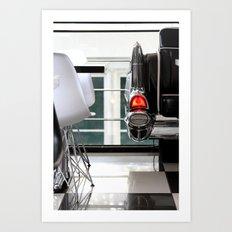 Diner Taillight Art Print