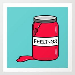 Feelings in a Jar Art Print