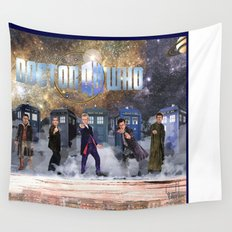 Six Doctors Wall Tapestry