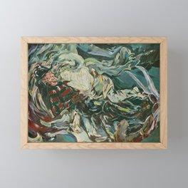 Nightmare in the Tempest: Freddy Krueger Framed Mini Art Print