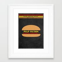 pulp fiction Framed Art Prints featuring Pulp Fiction by Ayse Deniz
