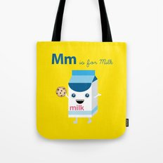 M is for Milk Tote Bag