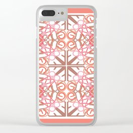 Gender Equality Tiled- Peach Clear iPhone Case