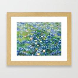 Spring Flowers in Texas Framed Art Print
