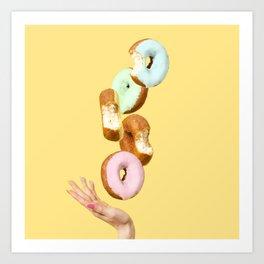 Rainbow Donuts Art Print