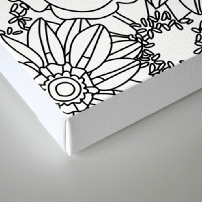 FLOWERS OF SUMMER B/W COLOUR IN Canvas Print by jessicaslater ...