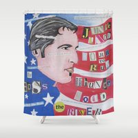 springsteen Shower Curtains featuring The Boss by Brett Sherman