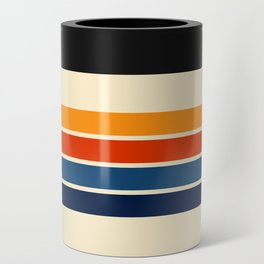 Classic Retro Stripes Can Cooler