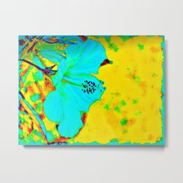 Tropical Vibrance in Hibiscus Metal Print
