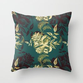 Illustrations of Florals Throw Pillow