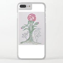 Flor De Fantasias Carnation Clear iPhone Case