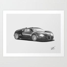 Bugatti Veyron EB Art Print