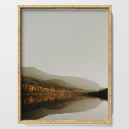 The Faded Forest on a River (Color) Serving Tray