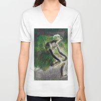 ballerina V-neck T-shirts featuring BalleriNA by PureVintageLove