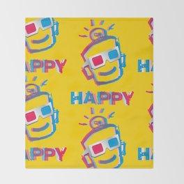 3D HAPPY Throw Blanket